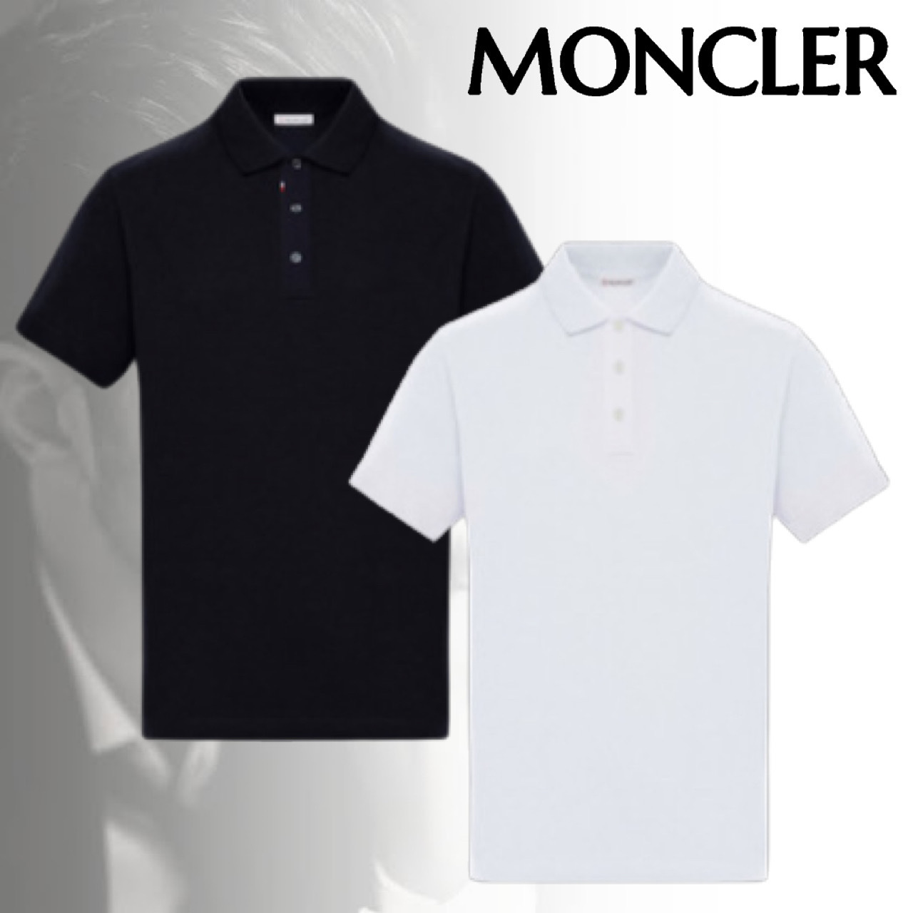 MONCLER モンクレール POLO ポロシャツ 半袖 ロゴ トリコロール (MONCLER/ポロシャツ) 64418506