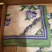 Tory Burch ◆ BLUE TERRACE DITSY CLOUDS SILK SQUARE SCARF