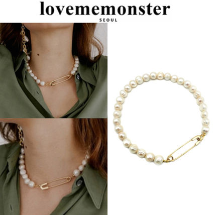 ★人氣★LOVE ME MONSTER★Clip & Pearl Necklace