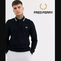 FRED PERRY(フレッドペリー) ポロシャツ 【関税送料込み】FRED PERRY Long Sleeve Black Polo Shirt