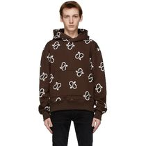 Brown Paisley All-Over Fitted Hoodie