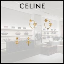 【21SS 新作】 CELINE MAILLON TRIOMPHE HOOPS IN GOLD BRASS
