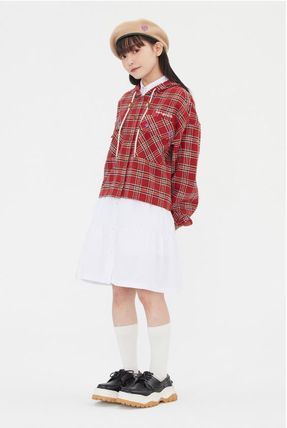 TARGETTO SEOUL ブラウス・シャツ TARGETTO SEOULのCHECK HOODIE SHIRTS 全2色(3)