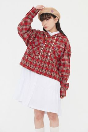 TARGETTO SEOUL ブラウス・シャツ TARGETTO SEOULのCHECK HOODIE SHIRTS 全2色(4)