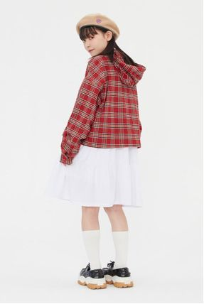 TARGETTO SEOUL ブラウス・シャツ TARGETTO SEOULのCHECK HOODIE SHIRTS 全2色(6)