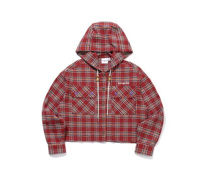 TARGETTO SEOUL ブラウス・シャツ TARGETTO SEOULのCHECK HOODIE SHIRTS 全2色(7)