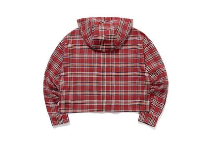 TARGETTO SEOUL ブラウス・シャツ TARGETTO SEOULのCHECK HOODIE SHIRTS 全2色(8)