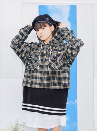 TARGETTO SEOUL ブラウス・シャツ TARGETTO SEOULのCHECK HOODIE SHIRTS 全2色(13)