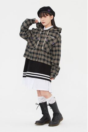 TARGETTO SEOUL ブラウス・シャツ TARGETTO SEOULのCHECK HOODIE SHIRTS 全2色(14)