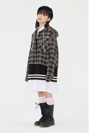 TARGETTO SEOUL ブラウス・シャツ TARGETTO SEOULのCHECK HOODIE SHIRTS 全2色(15)