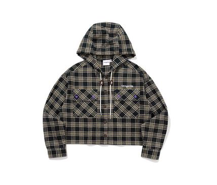 TARGETTO SEOUL ブラウス・シャツ TARGETTO SEOULのCHECK HOODIE SHIRTS 全2色(17)