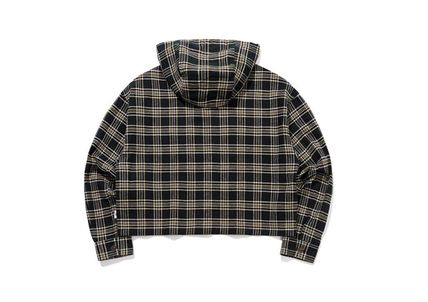TARGETTO SEOUL ブラウス・シャツ TARGETTO SEOULのCHECK HOODIE SHIRTS 全2色(18)