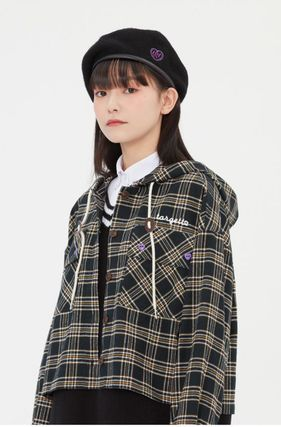 TARGETTO SEOUL ブラウス・シャツ TARGETTO SEOULのCHECK HOODIE SHIRTS 全2色(19)