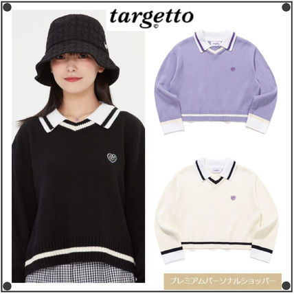 TARGETTO SEOUL ニット・セーター TARGETTO SEOULのCOLLAR V NECK KNIT 全3色
