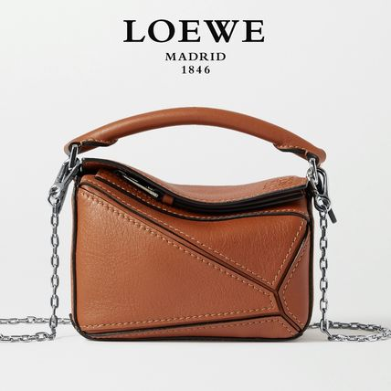 ∞∞ LOEWE ∞∞ Puzzle nano leather shoulder バッグ☆Tan