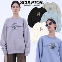 SCULPTOR★送料込み★韓国★大人気★Satin Applique Sweatshirt
