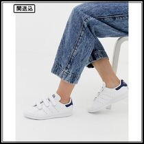 adidas Originals white and navy Stan Smith CF trainers