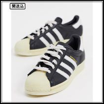 adidas Originals Superstar 80's trainers in black and white