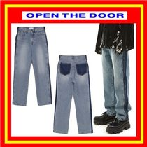 [OPEN THE DOOR] side cutting line washing jeans / 追跡付