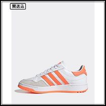 adidas Originals Team Court trainers in white and coral