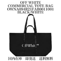 【国内即発】【送料無料】★COMMERCIAL TOTE BAG★BLACK/WHITE★