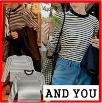 AND YOU(アンドユー) Tシャツ・カットソー ☆人気☆【AND YOU】☆SSANGMUN Puffed long sleeve T-shir.t☆