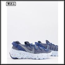 Nike Space Hippie 04 flyknit sneakers in grey and blue