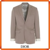 DIOR JACKET WITH 'CHRISTIAN DIOR' STRIPED SLEEVE CUFFS