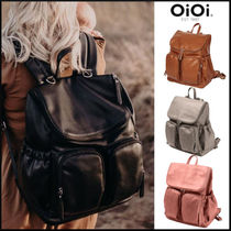 【OiOi】Nappy Backpackフェイクレザー マザーズバッグ リュック
