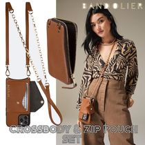 Bandolier★Lena Side Slot Crossbody ケース+ZIP ポーチ 2点Set