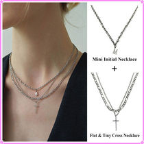 【LOVE ME MONSTER】Initial & Cross Necklace~ネックレス3連set