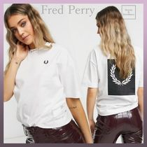 FRED PERRY(フレッドペリー) Tシャツ・カットソー Fred Perry☆ローレルリースプリント半袖Tシャツ 関税・送料込