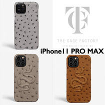THE CASEFACTORY*  オーストリッチ スネイク  iPhone11PRO MAX