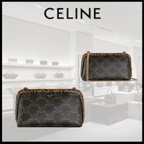 【21SS 新作】 CELINE CLUTCH ON CHAIN IN TRIOMPHE CANVAS