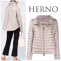 【HERNO】high-neck quilted down jacket
