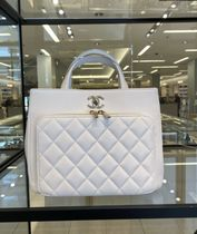 ★2021 CHANEL★BUSINESS AFFINITY TOTE in white