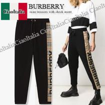 Burberry raine trousers with check insert