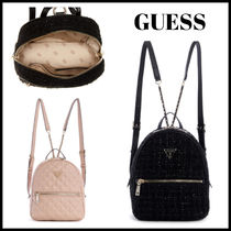 GUESS ☆Cessily ベルベット キルティング ロゴ☆ バックパック