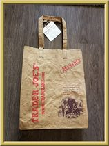 TRADER JOE'S WASHABLE PAPER GROCERY BAG 2PIECES SET