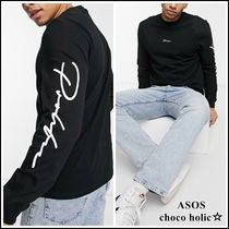 ASOS *River Island* ロゴスリーブ 長袖 Tシャツ 関税・送料無料