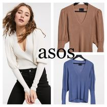 ASOS neck jumper with volume sleeve