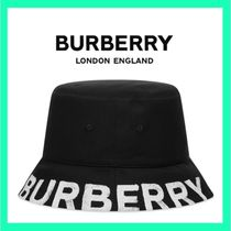 【BURBERRY】国内発送 ロゴプリント バケットハット