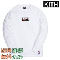 KITH NYC(キスニューヨークシティ) Tシャツ・カットソー 送関込み Kith x Nike for New York Knicks 長袖 Tシャツ