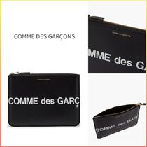 COMME DES GARCONS WALLET ロゴプリント レザーポーチ