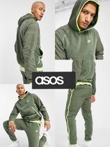 ASOS Nike Club Essentials panelledセットアップ カーキ 上下
