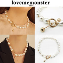 ★人氣★LOVE ME MONSTER★Pearl & Link Necklace