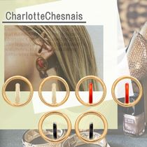 charlottechesnais☆ エナメル色 土星 Small Colours Earrings