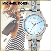 ★人気のペールブルー★Michael Kors Runway Mercer Watch