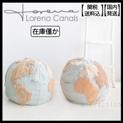 Lorena Canals クッション・クッションカバー 在庫少 関送込 LORENA CANALS World Map Pouf クッション