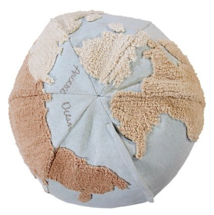 Lorena Canals クッション・クッションカバー 在庫少 関送込 LORENA CANALS World Map Pouf クッション(3)